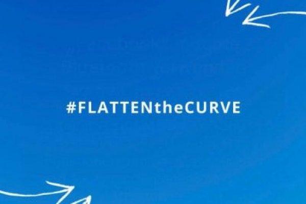 Bild Flatten The Curve Corona