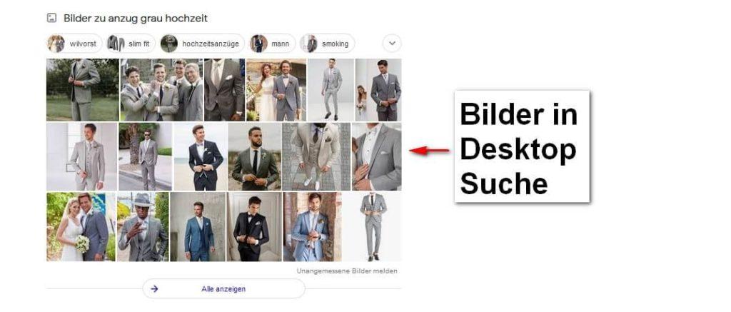 Bilder in der Desktop Suche