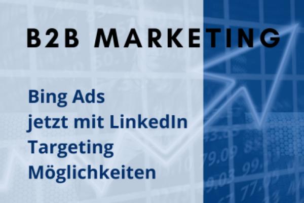Bing Ads LinkedIn Profile Targeting