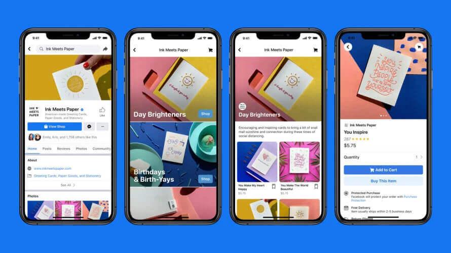 Facebook Shops auf dem Smartphone