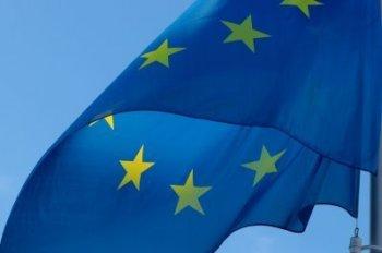 Bild wehende Flagge der Europäischen Union