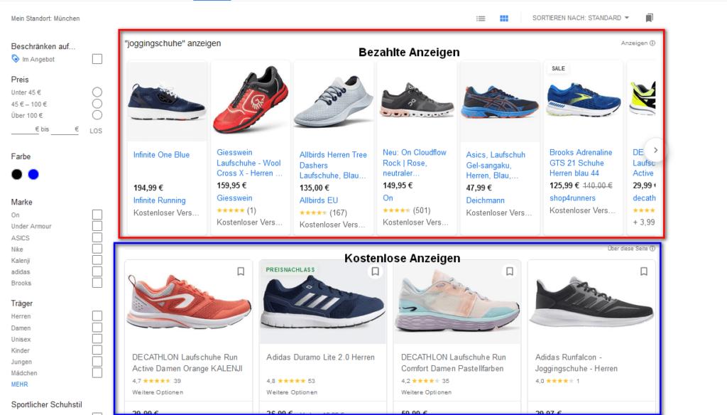 Google Shopping Tab Desktop