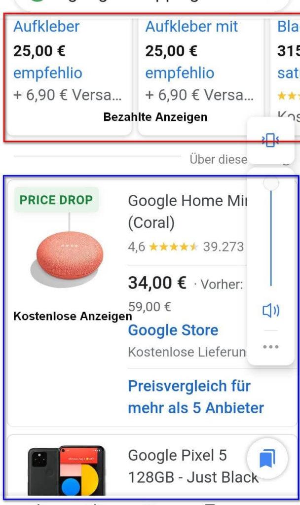 Shopping Tab Mobile