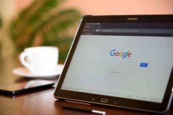 Google Suchleiste auf Black Samsung Tablet
