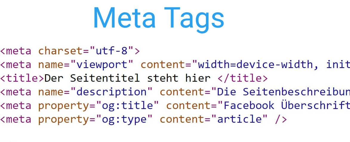 Meta Tags im Quellcode