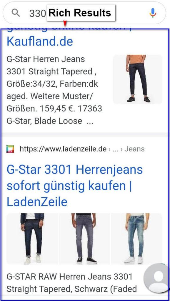 Rich Results in der Google Suche