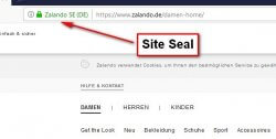 Screenshot Site Seal bei Zalando