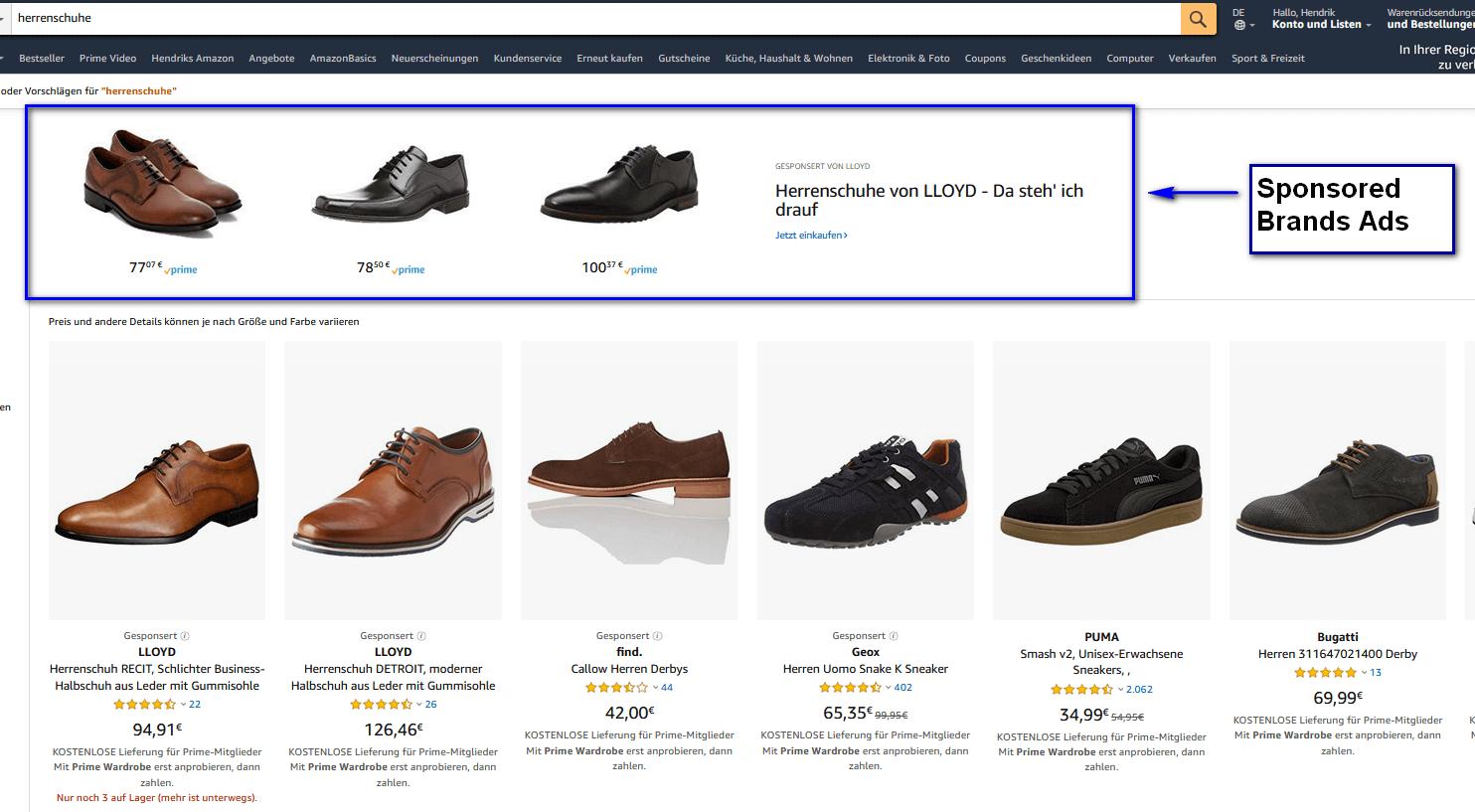 Screenshot Sponsored Brands Ads