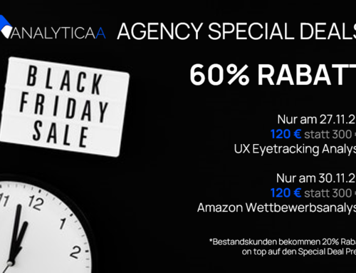Agency Special Deals: 60% Rabatt in der Black Week